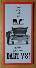 DODGE Dart V8 ORIG 1964 USA MKT la brochure commerciale