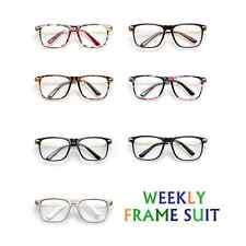 Vintage Man Woman Myopia Glasses Eyeglasses Frame Big-framed WEEKLY FRAMES SUIT