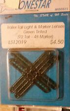 HO Lonestar Trailer Tail Light & Marker Lenses Green (12 Tail 48 Marker) LS12019