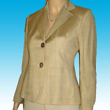 New $370 DONNA KARAN Blazer 4P MADE IN ITALY Beige AWESOME - LINEN Executive