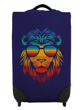 Retro Lion Head - Blue Caseskinz Case Cover SUITCASE NOT INCLUDED