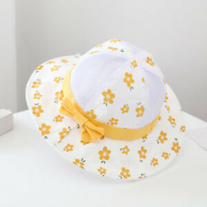 Cute Print Baby Breathable Foldable Mesh Hat Outdoor Girls Sun Protection Cap