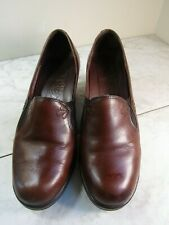 Dansko Beth Nappa Women's Brown Leather Stitched Slip On Pumps Shoes Size 41
