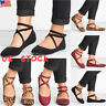Ladies Ankle Strap Ballerina Womens Flats Court Pumps Summer Comfy Shoes Size US