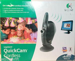 Logitech QuickCam Cordless Webcam Hardly Used Great Shape 961144-0403