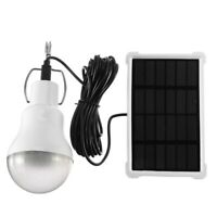 Solar Panel Powered LED Bulb Lamp Portable Camp Tent Fishing Light Hook Outdoor