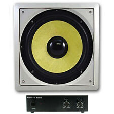 "Acoustic Audio HDS10 In-Wall 10"" Home Passive Subwoofer and Amplifier HDS10A"