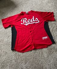 Majestic Cool Base Authentic Cincinnati Reds Stitched Logo Jersey sz Adult XXL