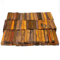 """5-pack of Exotic Cocobolo Rosewood pen/razor blank turning squares, 3/4""""x3/4""""x5"""""""