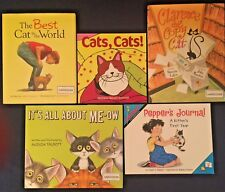Lot of 5 Children's Picture Books: Kittens and Cats Meow Theme