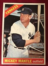 1966 Topps Mickey Mantle #50 Baseball Card 4 Sharp Corners This Outstanding Card