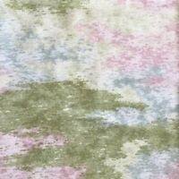 BTY Fabric Cotton Print Abstract Green Pink Blue Monet Quilt Craft 4 Yd X44 New