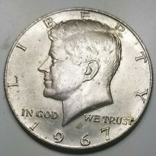 Collectible Rare Vintage Silver Plated 1967 Kennedy Half Dollar Coin