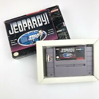 Super Nintendo SNES Jeopardy! Game Cartridge IN BOX Vintage 90s Alex Trebek 1992