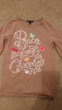 Girl's, Gap, Shirt, Long Sleeve, Brown, XL, 12