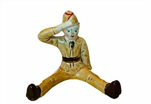 Toy Soldier vtg ceramic 1940s ww2 military wwii army navy marines figure cadet