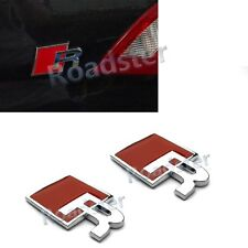 RED R REAR DECAL STICKER EMBLEM BADGE for AUDI RS3 RS4 RS5 RS6 RS7 RS TT TTS