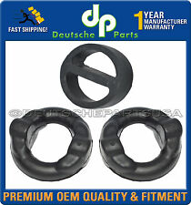 BMW E30 Exhaust Muffler System Hanger Front & Rear Donut Mount Damper Ring Set 3