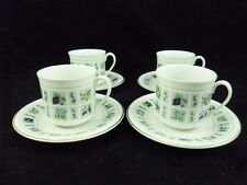 ROYAL DOULTON- SERVICE TAPESTRY- 4 GRANDES TASSES A CAFE ET SOUCOUPES