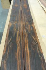 "Cocobolo Rosewood wood veneer 4.5"" x 96"" raw no backing 1/42"" thickness A grade"