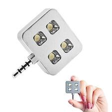4 LED Flash Torche Photo Mini jack 3.5mm pour Smartphone Tablette /  iPad / Blan