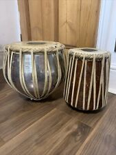 More details for set of vintage quality tabla drums bass drums . great condition.