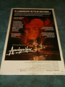 "APOCALYPSE NOW(1979)MARLON bRANDO ORIGINAL REVIEW 1 SHEET POSTER 27""BY41"""