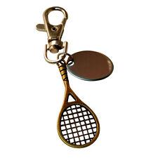 Raquetas de tenis personalizado grabado llavero con regalos bolsa - BR319