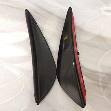 4Pcs Black Fit Front Lip Bumper Splitter Fins Body Spoiler Canard Valence Chin