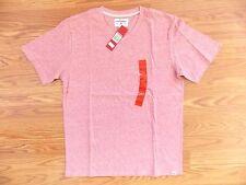 NWT Mens UNIONBAY Ruby Red V Neck Short Sleeve Shirt Size L Large