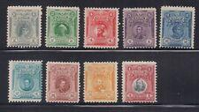 Peru  1909  Sc #  177-85   VLH  XF   (46389)
