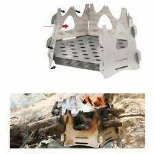 Mini Folding Stainlesss Steel Hexagon Wood Stove For Portable Outdoor Camping BA