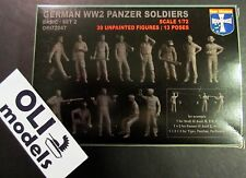1/72 WWII German Panzer Soldiers Crew FIGURES SET 2 - Orion 72047