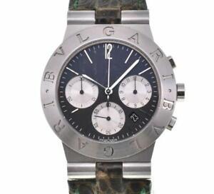 BVLGARI Diagono Sport Chrono CH35SG SS/Leather Quartz Men's Watch A#102125
