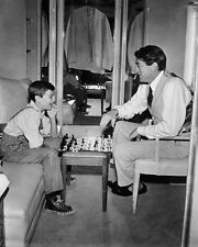 To Kill a Mockingbird Gregory Peck Phillip Alford playing chess 8x10 Photo
