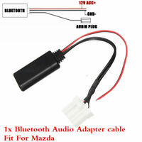 Wireless Bluetooth Interface Adapter Car AUX Audio Cable For Mazda M6 M3 RX8 MX5