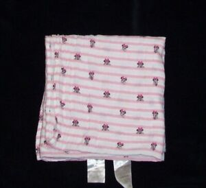 Aden + Anais Disney Minnie Mouse Pink Stripe Baby Blanket Muslin Security Lovey