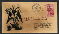 Anton LaVey Church of Satan Autograph Reprint on Collector's Envelope *OP1177