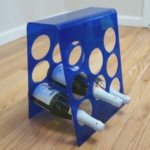 Mid Century Modernist Lucite Wine Rack Barware Blue Magazine Record Holder 8