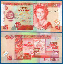 BELIZE  5 Dollars 2009 UNC  P. 67 d