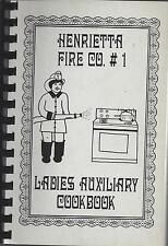 *HENRIETTA NY 1990 FIRE CO #1 AUXILIARY COOK BOOK *NEW YORK COMMUNITY RECIPES