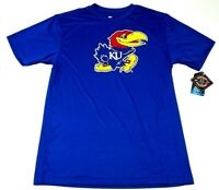 Mens Sz Med University Of Kansas Jayhawks KU Blue Short Sleeve T Shirt Athletic