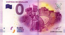 BELGIQUE Bouillon, Château, N° de la 4ème liasse, 2017, Billet 0 € Souvenir