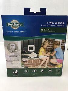 PetSafe 4-Way Locking Cat Door w/Tunnel White Interior - Exterior PPA00-11325