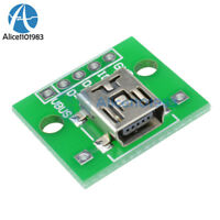 2PCS Mini USB to DIP Adapter Converter for 2.54mm PCB Board DIY Power Supply