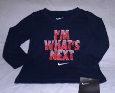 Nwt Nike Baby Toddler Boy Long Sleeved Ls Tee T Shirt 12 Month Obsidian