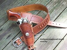 Reddog Leather Cowboy Fast Draw Western Holster & Belt, Colorado Concho!