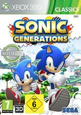 JUEGO XBOX 360 Sónico GENERATIONS NUEVO Y EMB. orig.