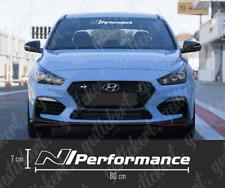 1x 60 cm N Performance Frontscheiben Aufkleber Sticker Decal Hyundai i30N Tuning