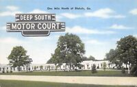 Blakely Georgia 1940s Postcard Deep South Motor Court